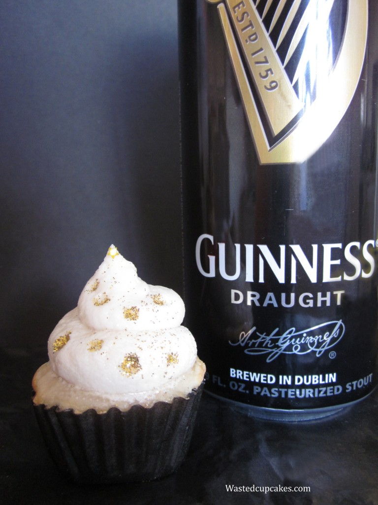 Guinness and IrishCream Cupcakes