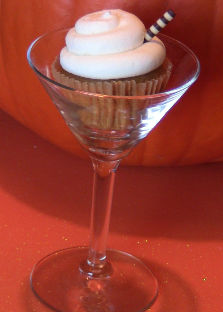 Pumpkin Pie Martini Cupcakes