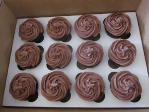 Chocolate Ouzo Cupcakes (The Dancing Zorba)