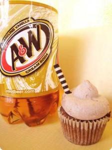 Non Alcoholic Cream Soda Cupcakes