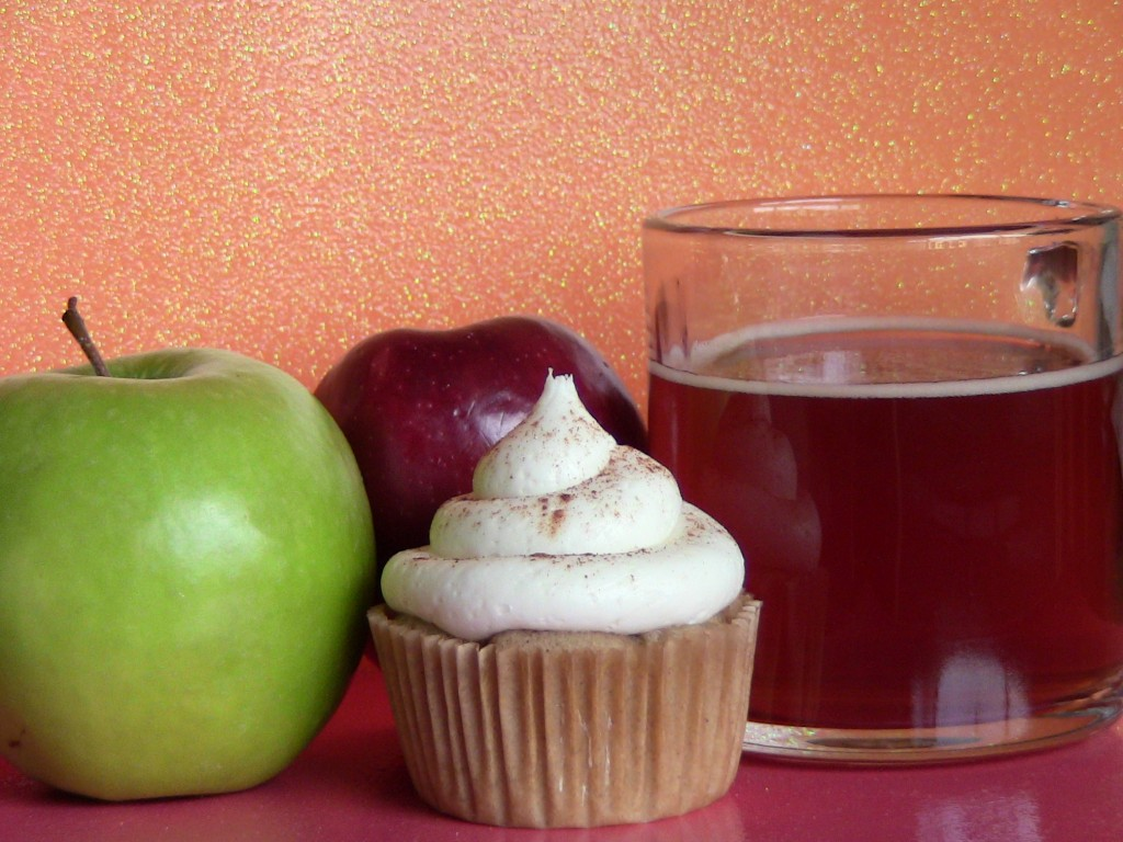 Spiked Apple Cider Cupcakes