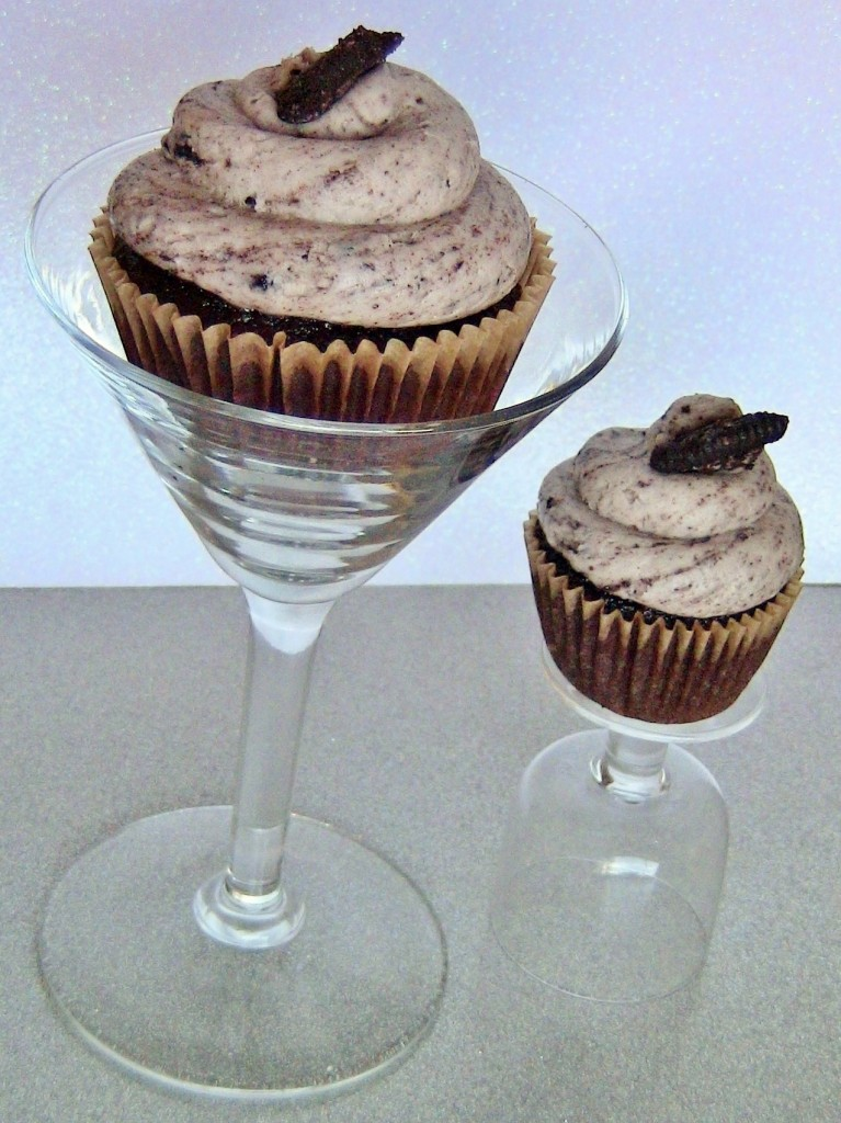 Cookies and Cream Vodka Chocolate Cupcakes