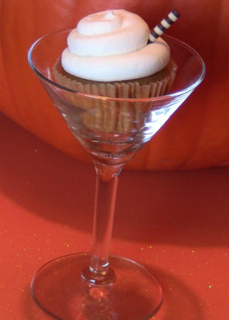 Pumpkin Pie Martini Cupcakes