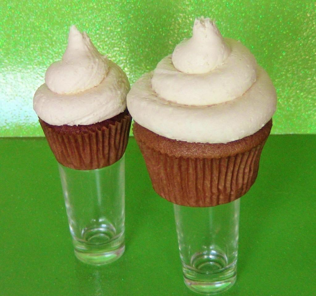 Flaming Irish Orgasm Cupcakes